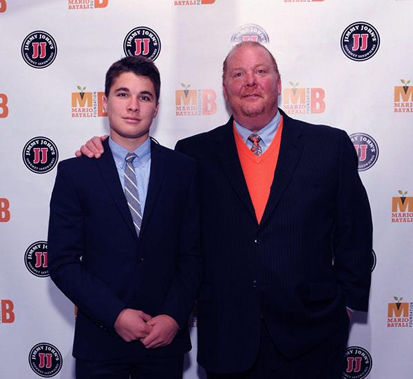 Image of Caption: Mario Batali with his son Leo Cahn