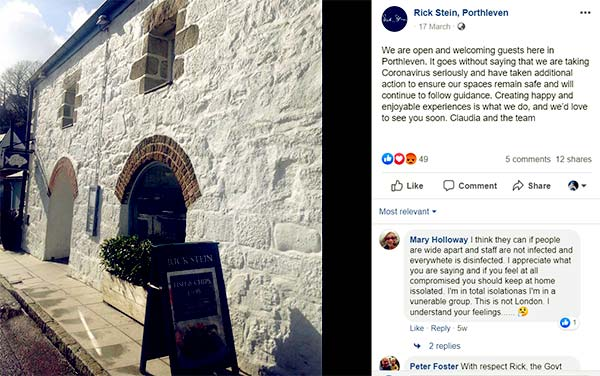 Image of Rick Stein restaurant Porthleven seafood in Mount Pleasant, Porthleven
