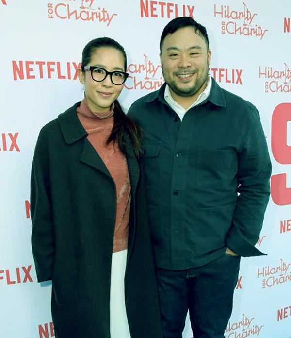 Image of David Chang with his wife Grace Seo Chang