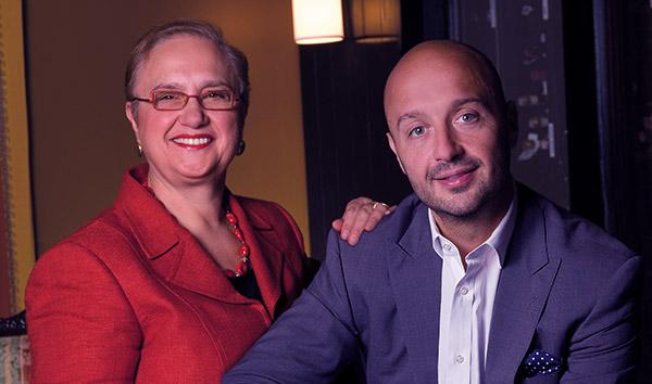 Image of Lidia Bastianich with her son Joseph Bastianich
