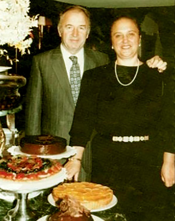 Image of Lidia Bastianich with her ex-husband Felice Bastianich