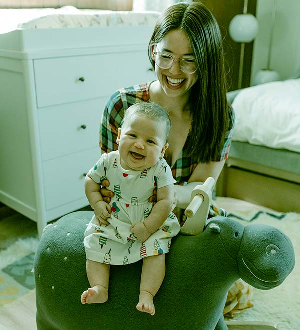Image of Molly Yeh with her daughter Bernadette Rosemary Yeh Hagen