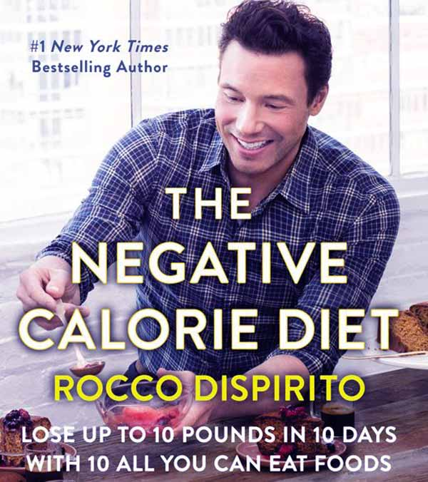 Image of Chef Rocco book named The Negative Calorie Diet