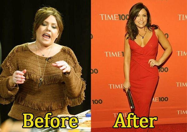 Image of TV personality Rachael Ray weight loss before and after