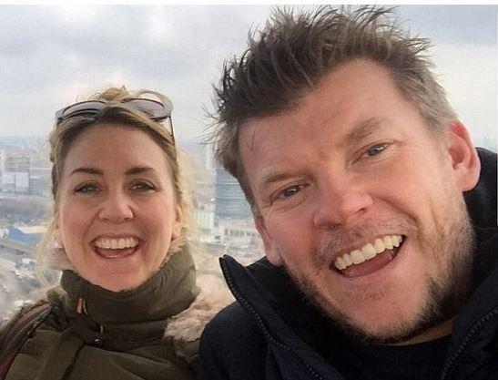 Image of Katy Ashworth and her ex-husband, Ben Alcott.
