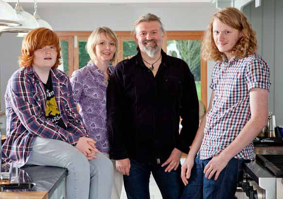Image of Simon King's ex-wife, Jane and children.