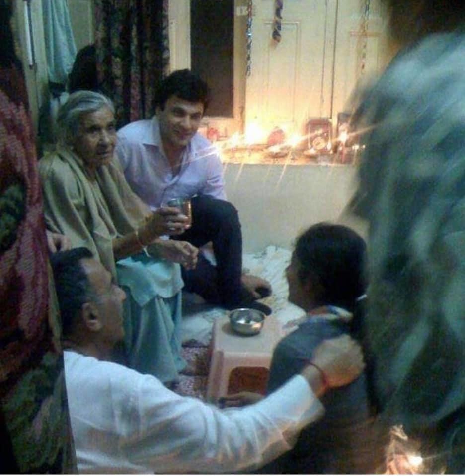 Vikas khanna with grandmother