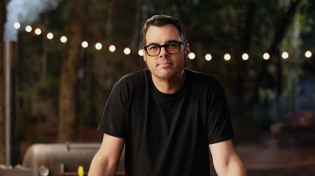 Image of chef and author, Aaron Franklin.