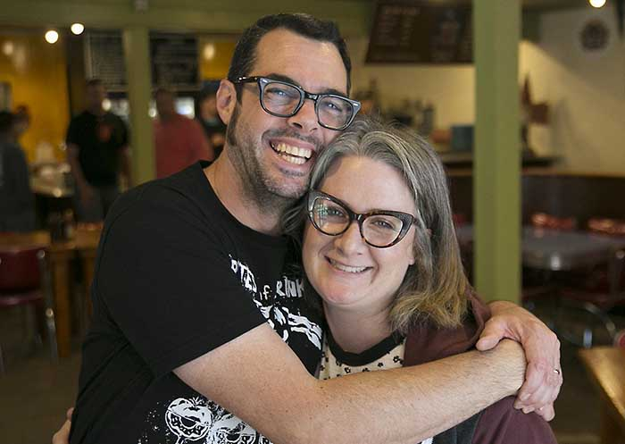 Image of chef Aaron Franklin and his wife, Stacy Franklin.