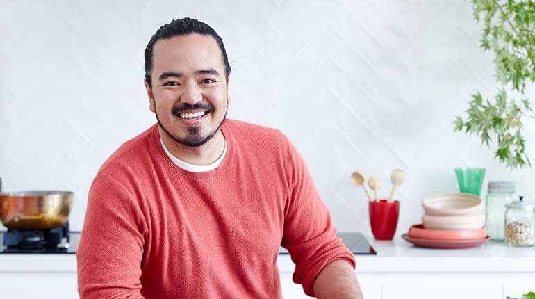 Photo of chef and TV host, Adam Liaw.