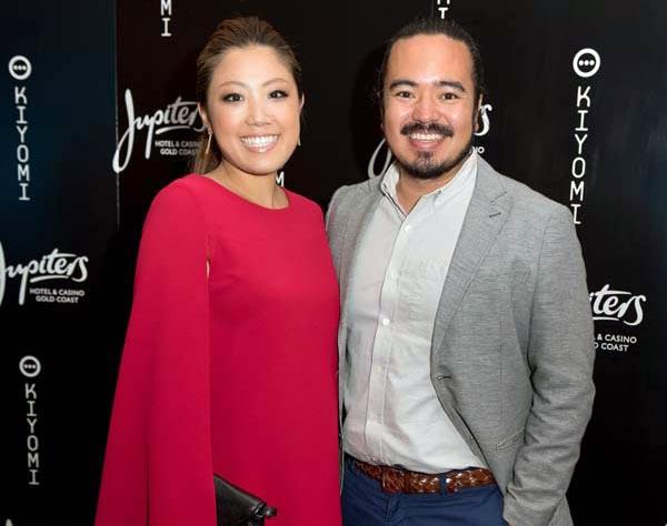 Image of chef, Adam Liaw and his wife, Asami Fujitsuka.