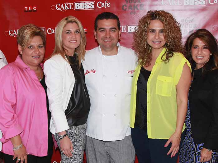 Image of Buddy Valastro and his siblings sisters.