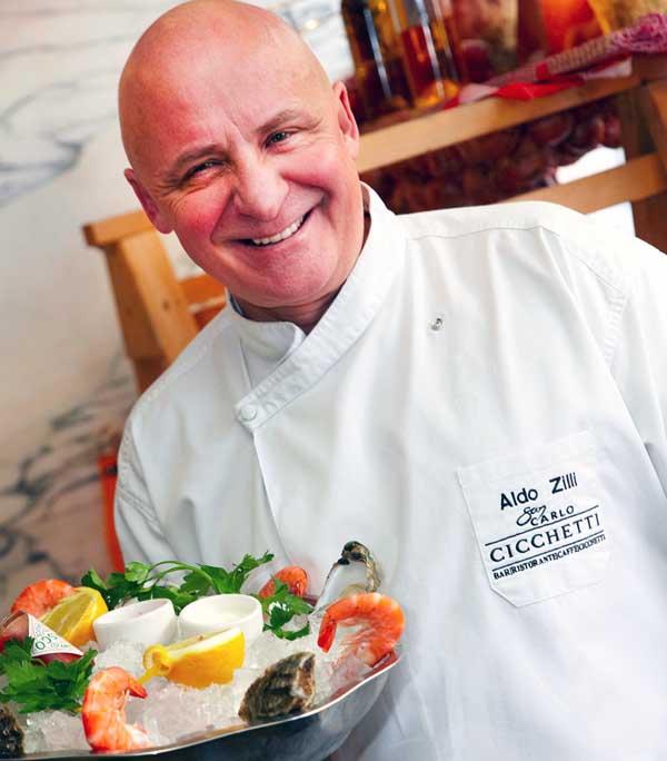 Image of famous chef, Aldo Zilli.