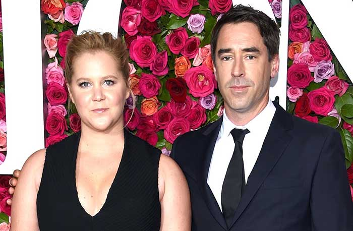 Image of celebrity chef, Chris Fischer and his wife, Amy Schumer.