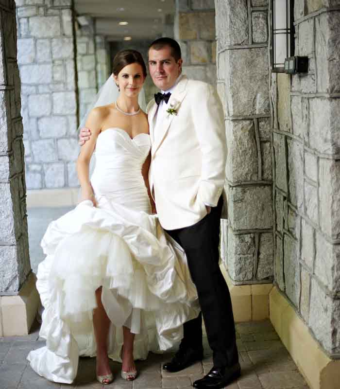 Wedding photo of Chef Harold Dieterle and his wife, Meredith Davies.