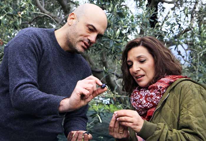 Image of chef Diane Kochilas and her husband, Vasilis Stenos.