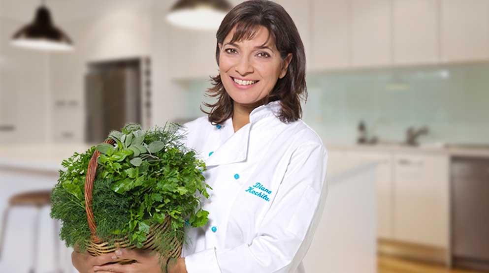 Photo of TV star and chef, Diane Kochilas.