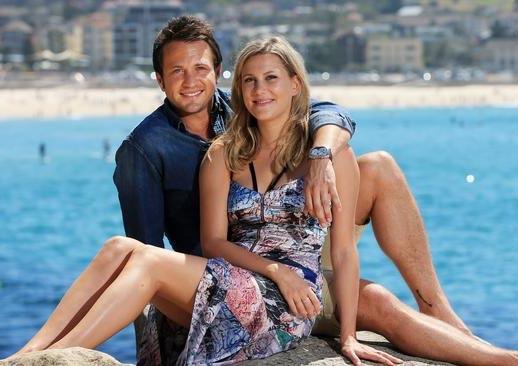Image of chef Justine Schofield and her ex-boyfriend, Matt Doran.