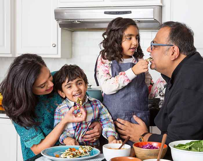 Photo of Maneet Chauhan's family.