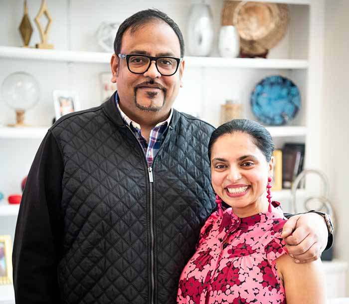 Photo of Maneet Chauhan and her Husband, Vivek Deora.