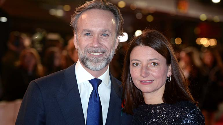 Photo of Marcus Wareing with his wife, Jane Wareing.