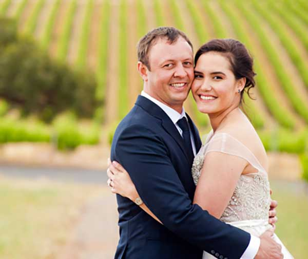 Wedding Image of Marion Grasby and her husband, Tim Althaus.
