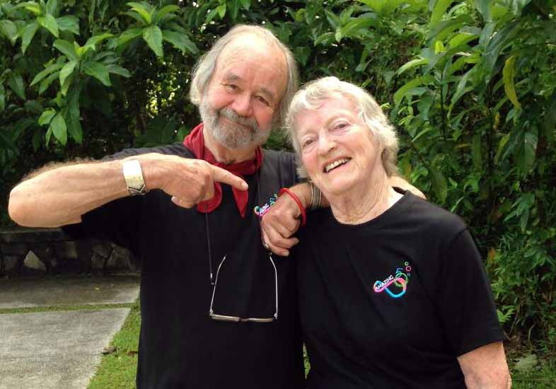 Image of Peter Russell Clarke and his wife, Janet.