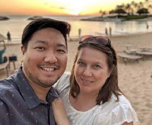 Photo of chef Roy Choi and his wife, Caroline Shin-Manguera.
