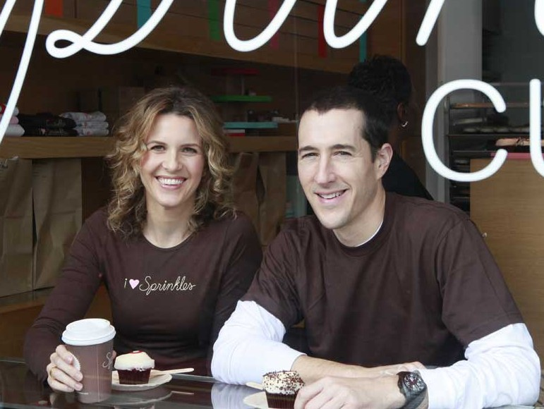 Image of Pastry Chef and Entrepreneur, Candace Nelson and her husband