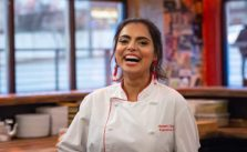 Photo of author, chef and TV star, Maneet Chauhan.