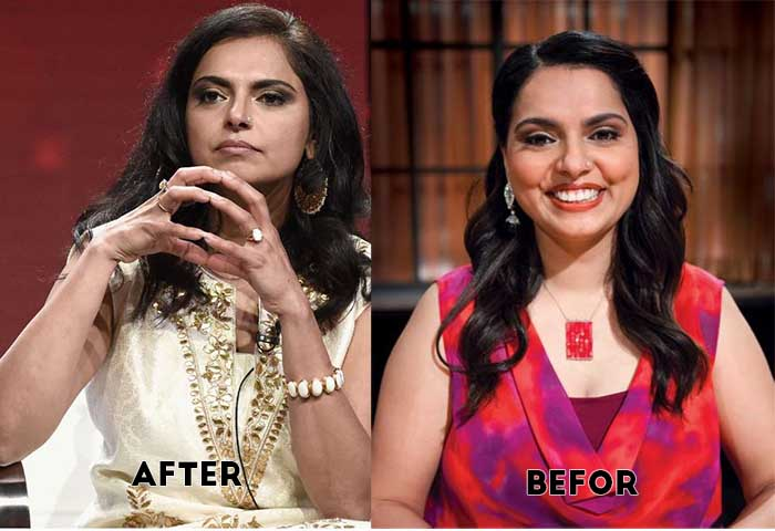Photo of before and after weight loss of Maneet Chauhan.