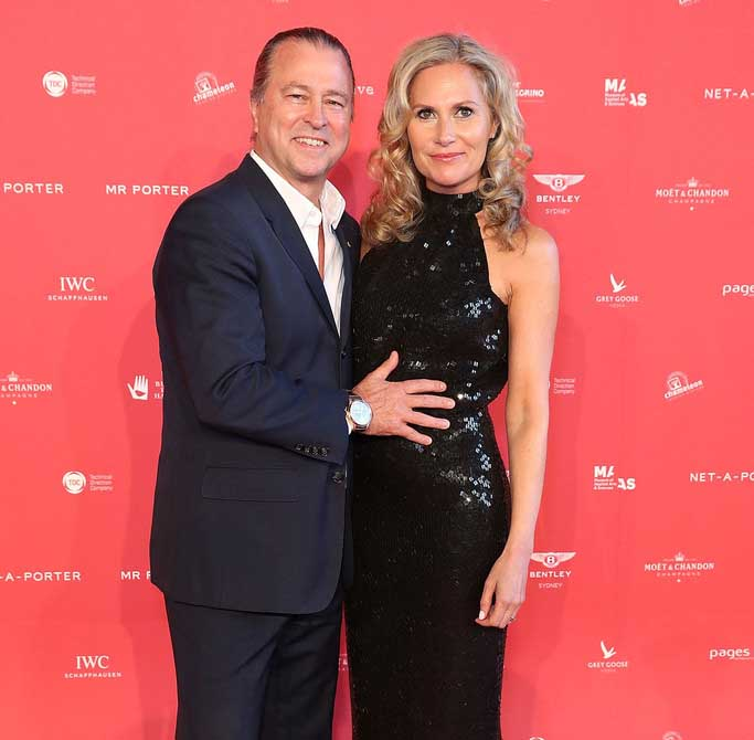 Image of Neil Perry and his wife, Samantha.