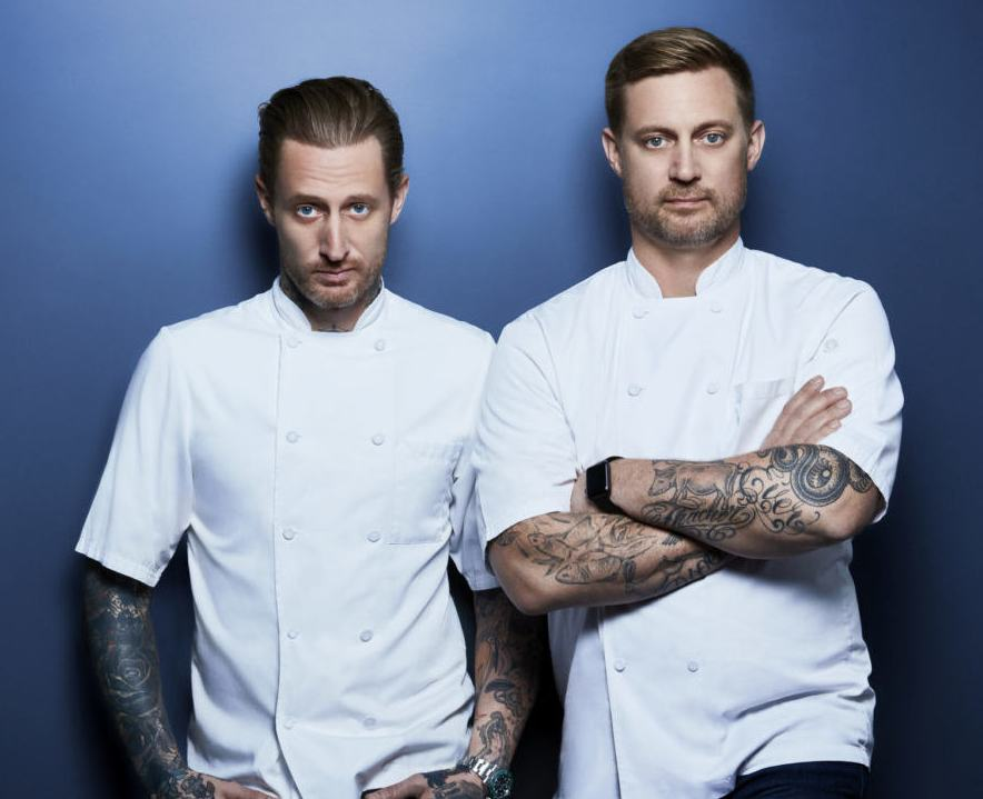 Image of renowned chef, Bryan Voltaggio with his brother
