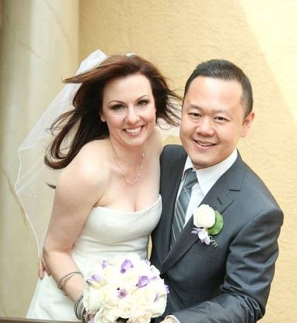 Image of popular chef, Jet Tila and his wife
