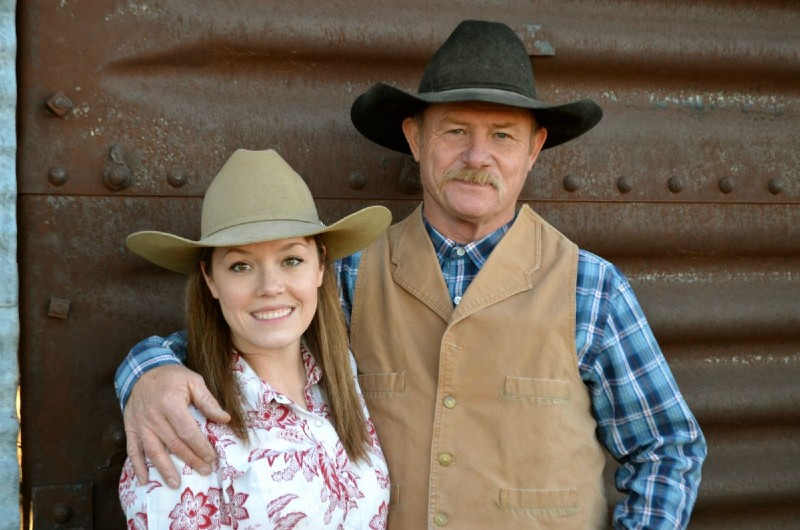 Image of famous cowboy cook, Kent Rollins and his wife