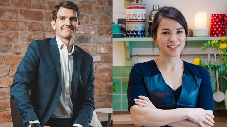 Image of popular chef, Chef Rachel Khoo and her husband