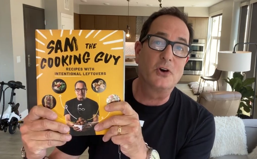 Image of successful chef, Sam Zien's book