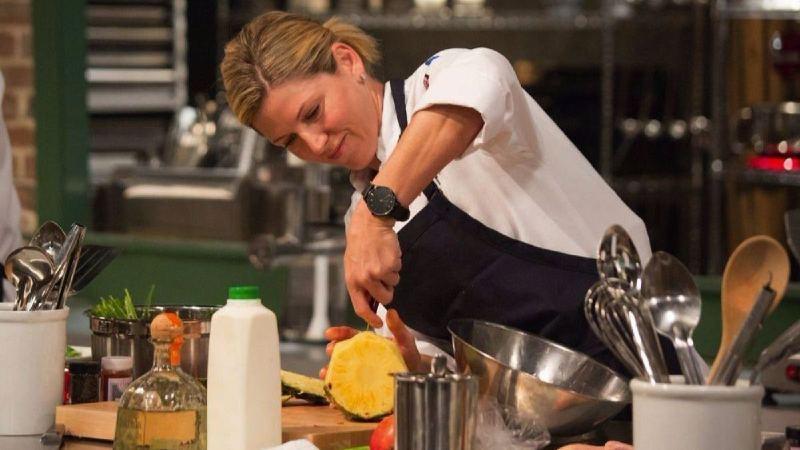 Casey Thompson at the kitchen