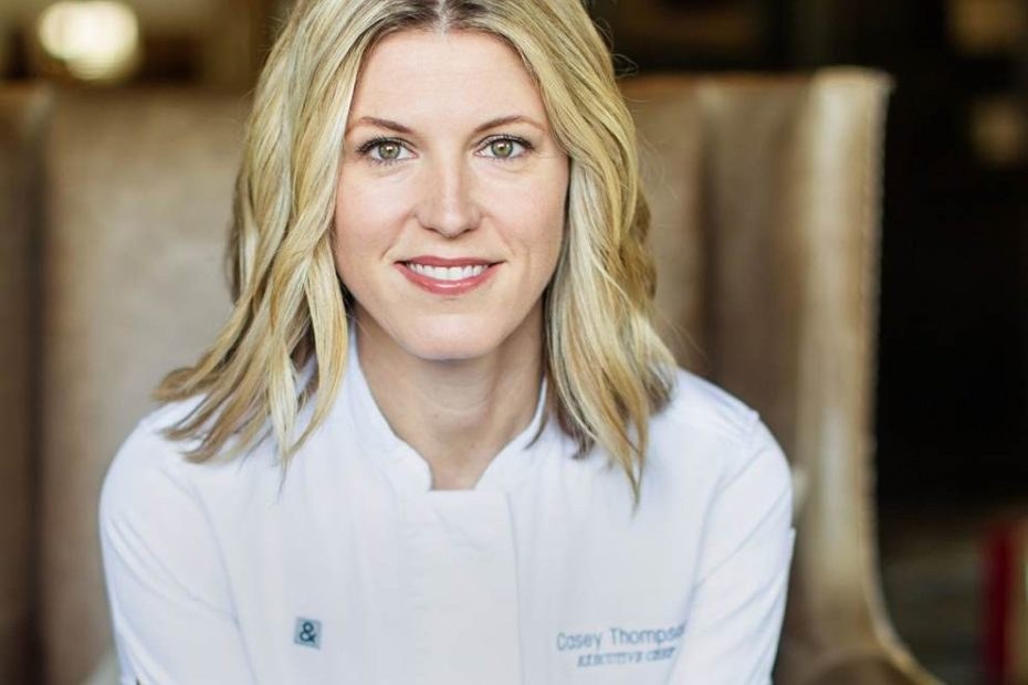 Chef Casey Thompson with her beautiful look