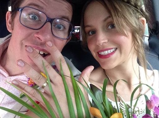 Image of the top chef, Justin Warner and wife