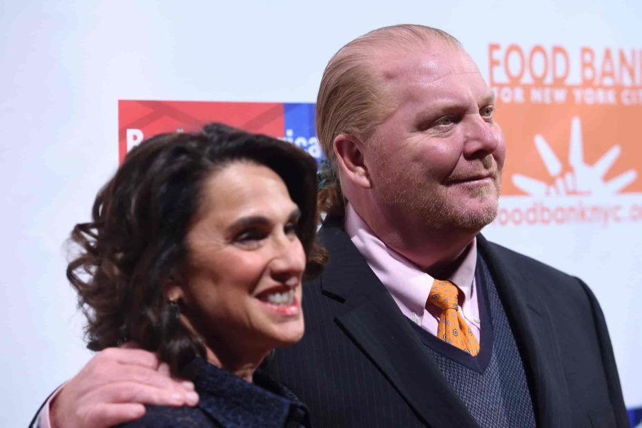 Chef Mario Batali with his wife Susi Cahn