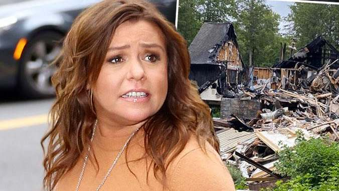 Rachel Ray house burning